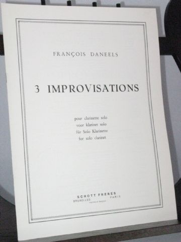 Daneels F - 3 Improvisations for Solo Clarinet